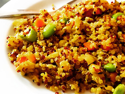 Quinoa with Soybean and Vegetables