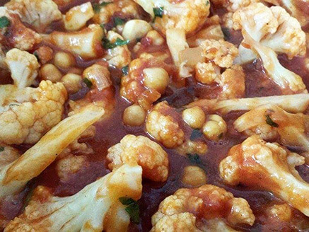 Cauliflower and Chickpea Stew