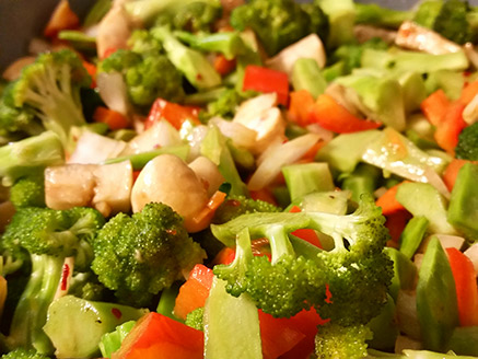 Stir-Fried Vegetables in Soy, Chili and Garlic