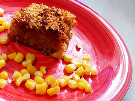Vegan Rice Pie with Vegetables