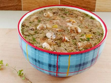 Mushroom, Leek and Jerusalem Artichoke Soup