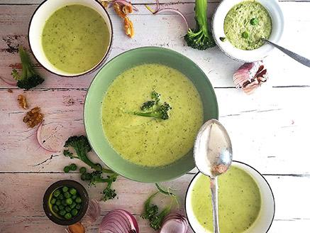 Broccoli, Pea and Coconut Cream Soup