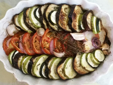 Slices of Vegetables in The Oven