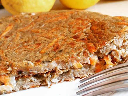 Vegan Omelette Made from Lentil, Teff and Buckwheat Flours