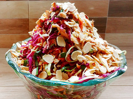 Colored Cabbage Salad with Almonds
